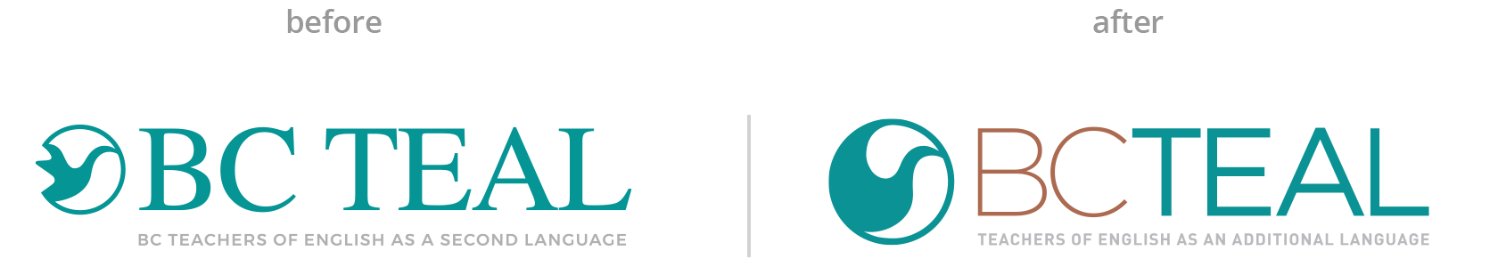 BC TEAL logo before & after image