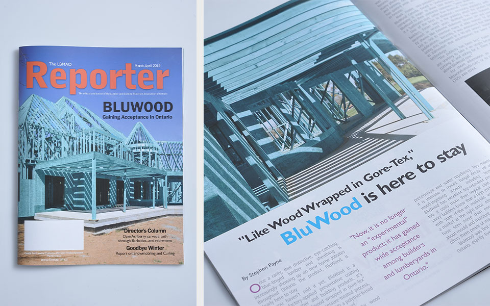 BluWood as featured in Magazine