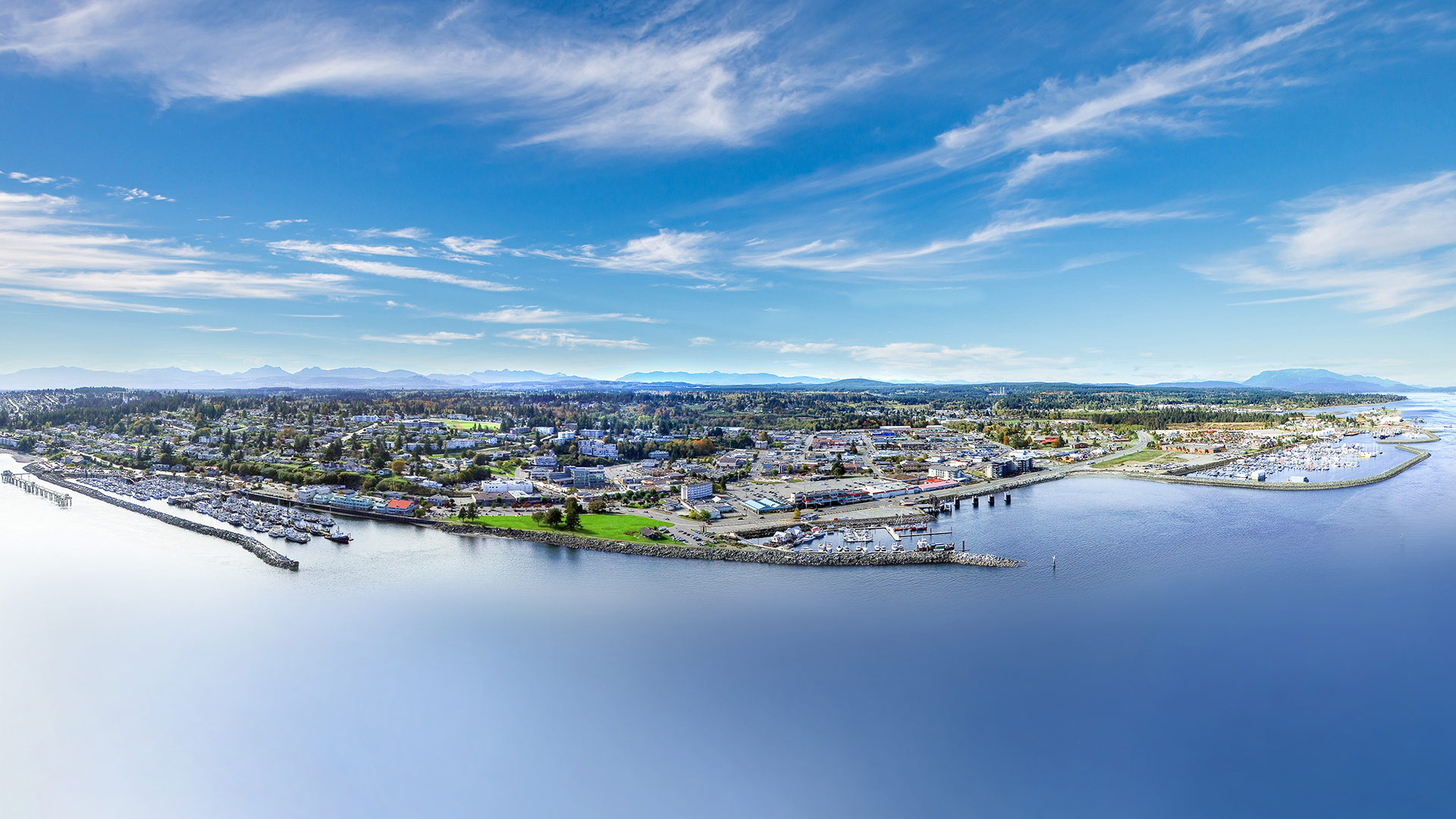 Campbell River drone shot