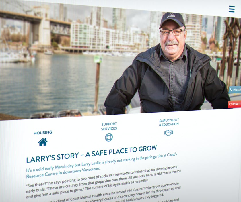 Coast Mental Health – Larry's story about housing