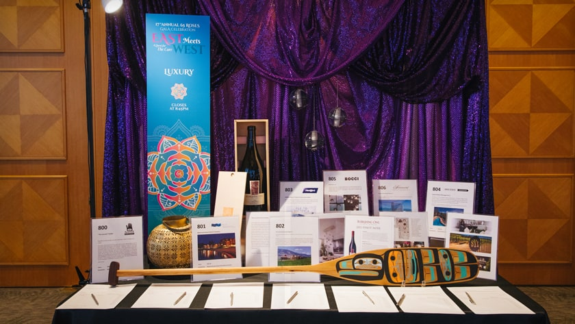 Cystic Fibrosis 2017 Gala auction table sign