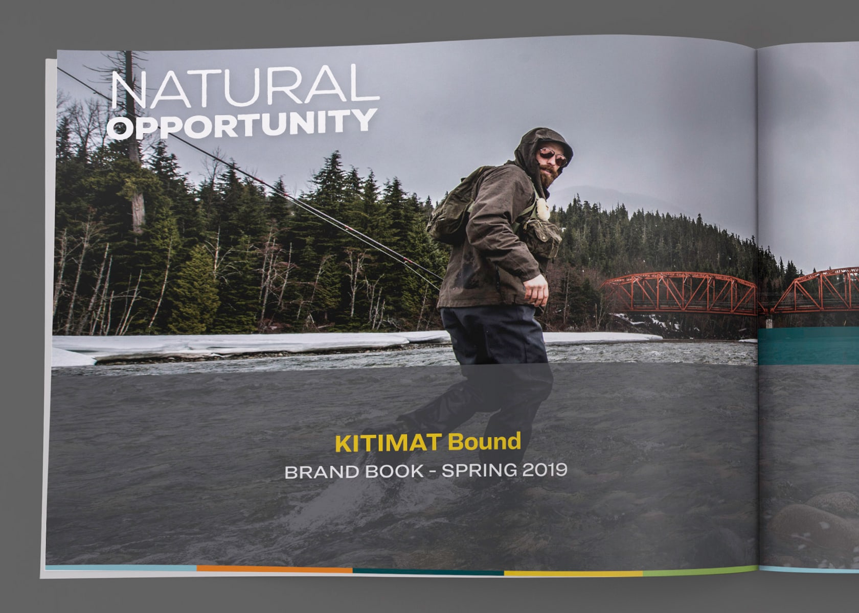 District of Kitimat - Kitimat Bound branding brand book opening spread