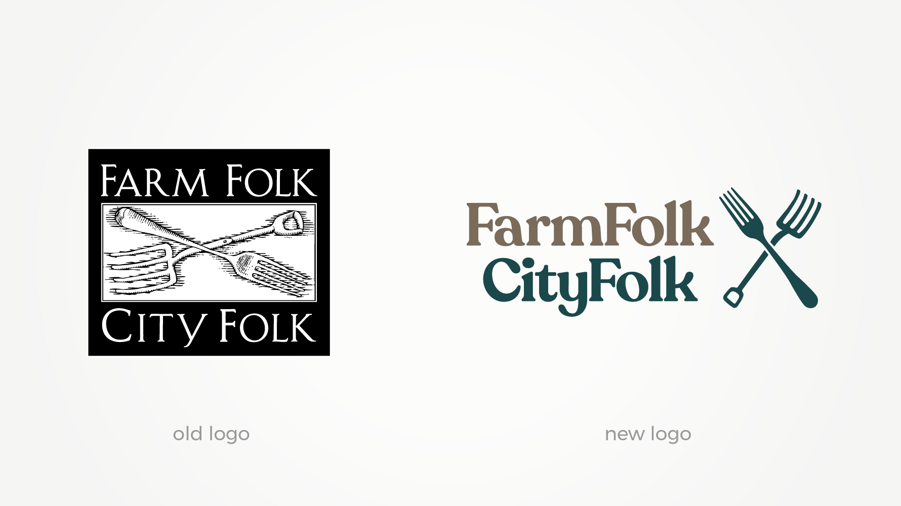 FarmFolk CityFolk old and new logos