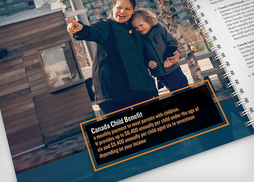 An example of the emotional, authentic photography used throughout the report.