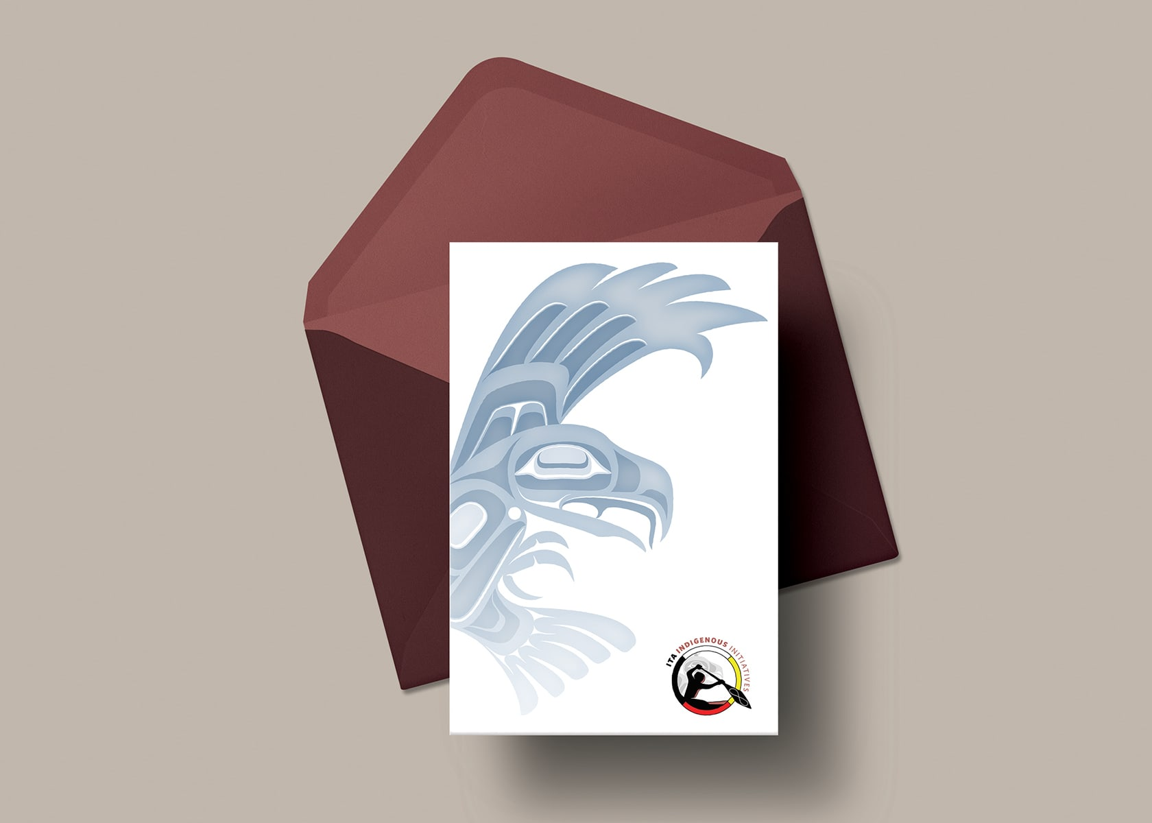 Industry Training Authority - Indigenous Initiatives card and envelope
