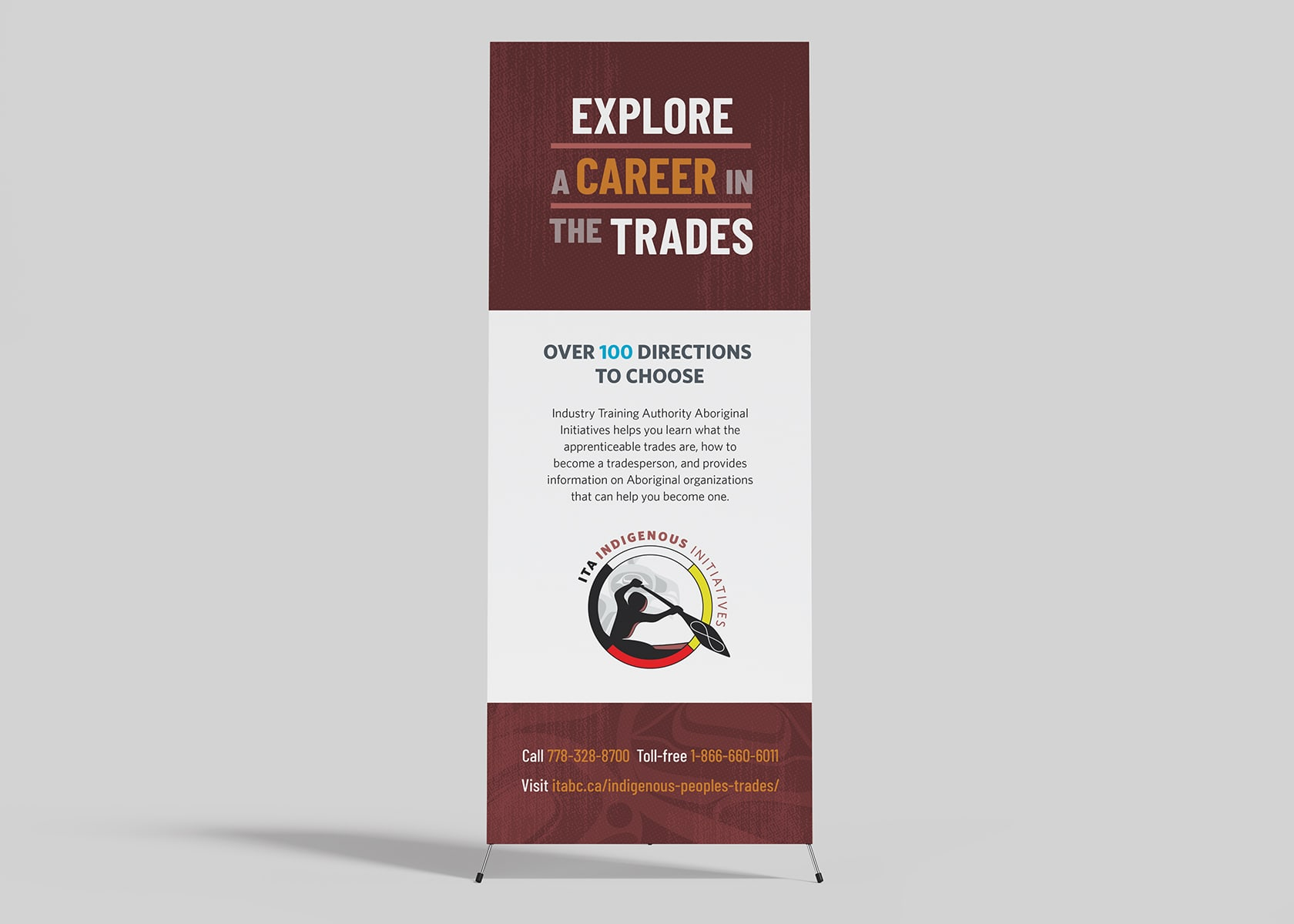 Industry Training Authority - Indigenous Initiatives pop-up banner