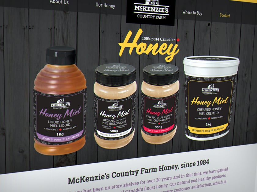 McKenzie's Country Farm Honey 1-page website