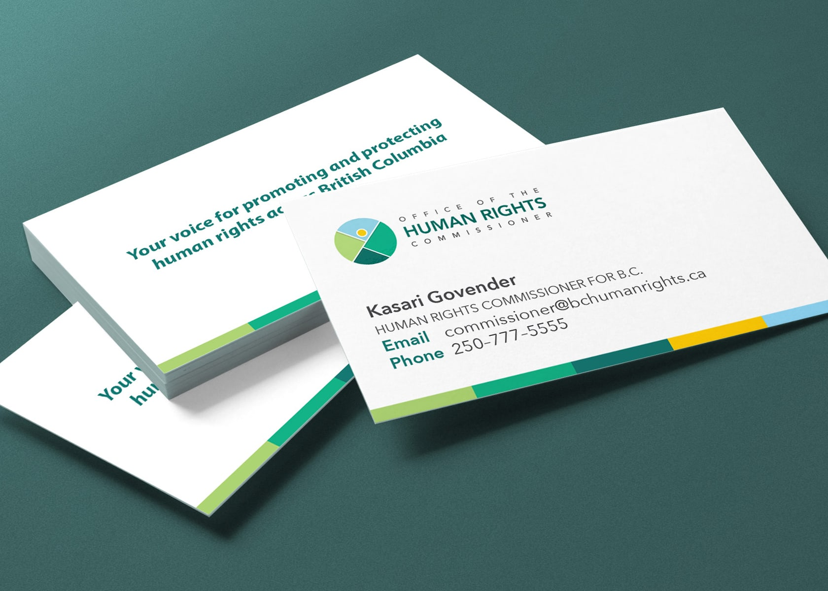 Office of the Human Rights Commissioner business cards