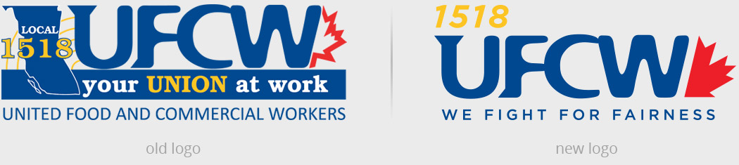 UFCW 1518 old vs. new logos