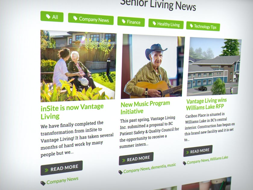 Vantage Living Seniors News and Resources