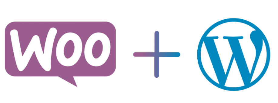 WooCommerce and WordPress joined together with a plus sign