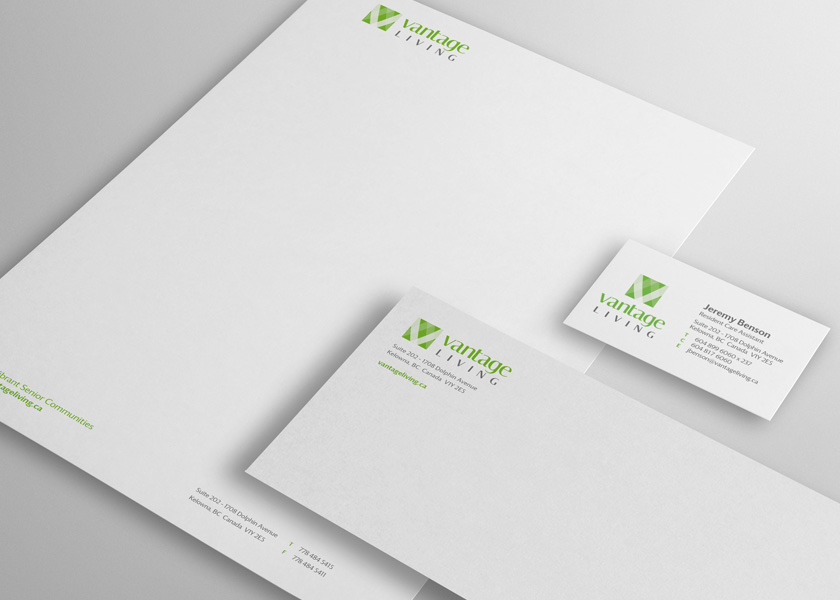Vantage Living Stationery
