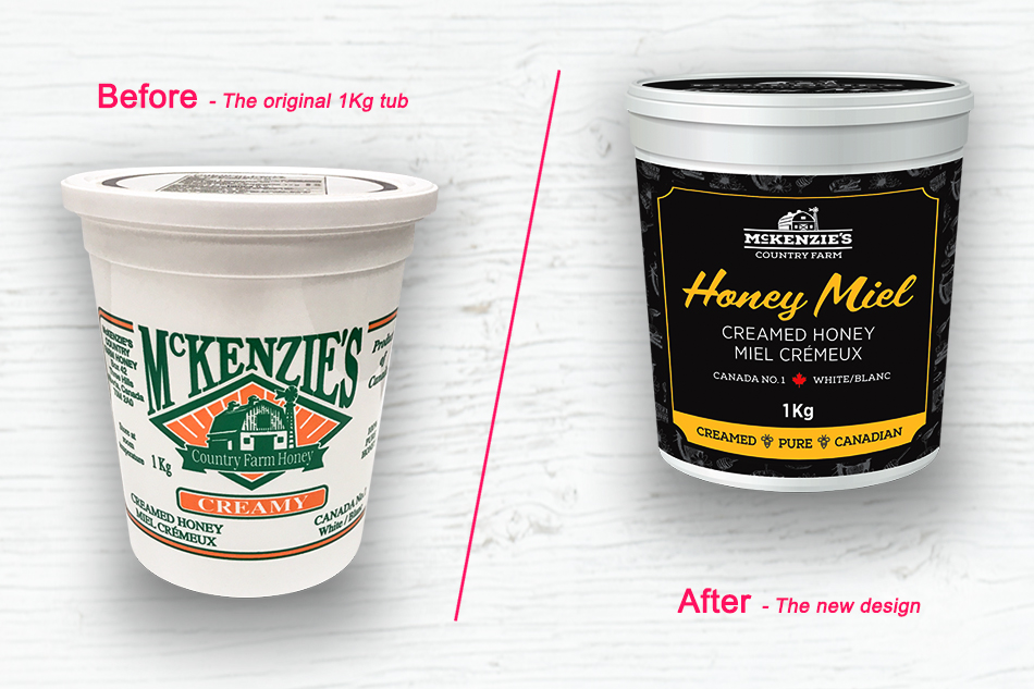McKenzie's Country Farm Honey before & after